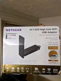 Netgear AC1200 High Gain Wifi Adapter Silver Spring