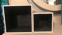 Two black and white wooden frames Yorkville, 60560