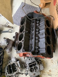 305 engine block with heads