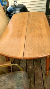 brown wooden table with brown wooden base Anderson, 46016