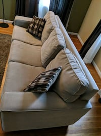brown suede 3-seat sofa Silver Spring, 20906