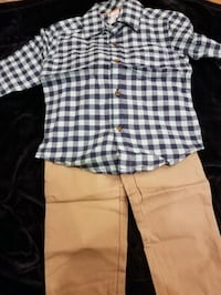 New Carters flannel shirt and khaki pant set size 2T. $14 price firm Rockville