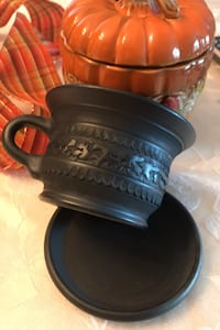 Pottery in a unglazed finished Black. Made in Ukraine Bukovel Karpaty