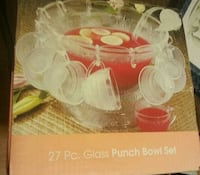 Brand New 27pc Punch Bowl Set  West Fargo