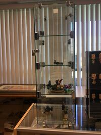 Glass display case with door 4 divided have looked with keys only display  Las Vegas, 89103