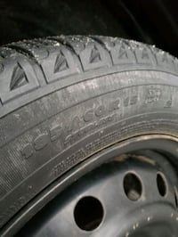 185/60/15 Michelin Xice with Rims, Patern 4×100 from Toyota Yaris.