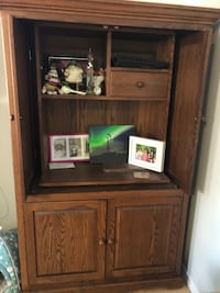 Old fashioned computer armoire