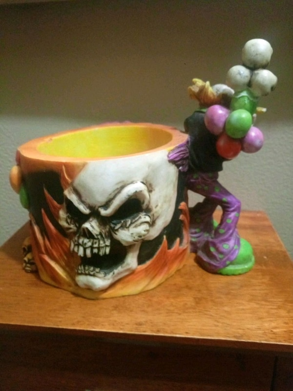 collectable dish skull and clown