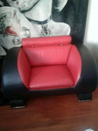 red and black leather sofa chair 3147 km