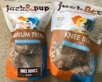 Dog knuckle bones made in USA.  Two bags $7 Des Plaines, 60016