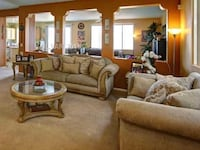 brown fabric sofa set with coffee table Washington, 20024