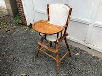 Solid Wood High Chair With Protector Insert Albany, 12203