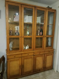 brown wooden framed glass display cabinet Reston, 20191