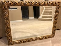 LARGE GOLD/BLACK CARVED LEAF WALL MIRROR  LEESBURG