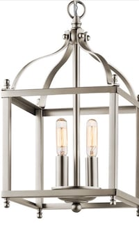 POTTERY BARN STYLE BRUSHED NICKEL PENDANT CHANDELIER LIGHT FIXTURE  Houston, 77056