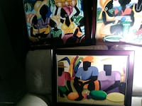 three assorted color abstract paintings Calgary, T1Y 7M8