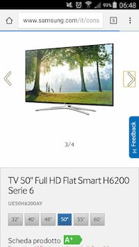 Samsung 50 pollici full hd smart tv 3d