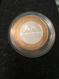 .999 silver MGM Limited Edition ten dollar gaming coin