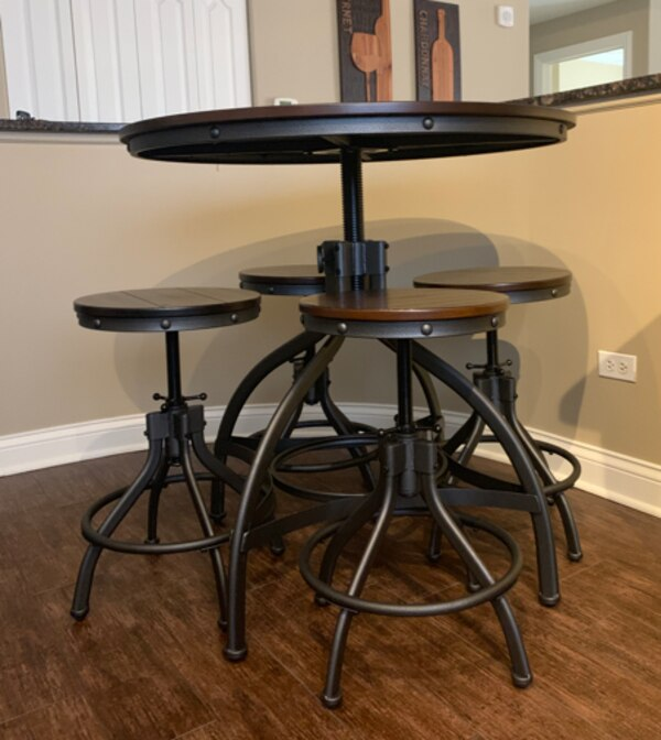 Odium Counter Height Dining Room Table Bar Stools Set Of 5