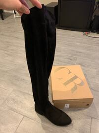 woman's size 7 knee high boots, black suede, Charlotte Russe brand Las Vegas, 89139