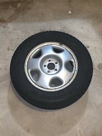 4 Michelin Radial X245/65R17 Winter Tires with Steel Rims. Vaughan