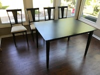 Black Dining table with 4 chairs KANSASCITY