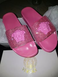 Versace slides . Size 6.5 and 7.5