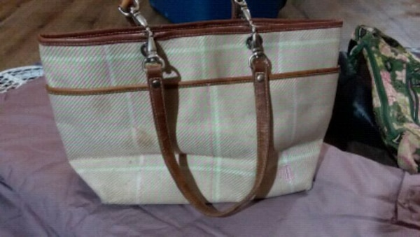 224fdb6c3b Used brown and white leather tote bag for sale in Bremen - letgo