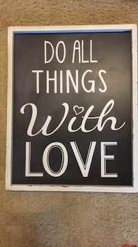 Wall hanging do all things with love Charlotte, 28209