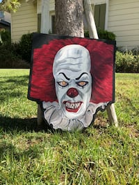"""PENNYWISE - """"IT"""" HALLOWEEN LAWN ART -YARD SIGN Lake Elsinore, 92530"""