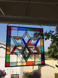 red, white, and green stained glass pendant lamp Lehigh Acres, 33974
