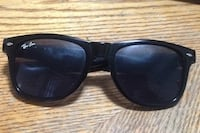 black framed Ray-Ban wayfarer sunglasses Regina