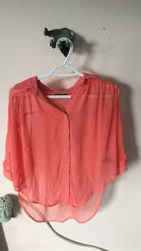 red button-up long-sleeved shirt Mono, L9W 6G7