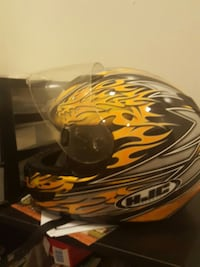black,gray, yellow hjc full face motorcycle helmet Washington, 20019