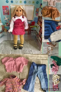 American Girl Doll Julie and Clothing