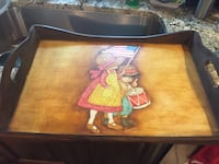 Wooden hand painted serving tray Bala Cynwyd, 19004