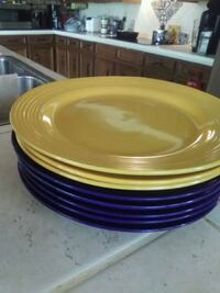 Ceramic plates-blue and yellow Richland, 39218