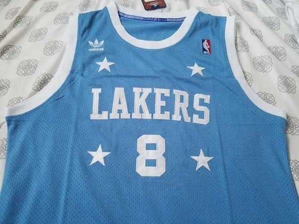 3f6563809f2 Used blue Adidas Los Angeles Lakers 8 Kobe Bryant jersey for sale in ...