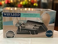 Wayland jewelry box 3 pc- black Rockville, 20850