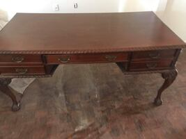 Solid wood desk delivery available