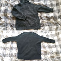 black and gray camouflage crew neck long sleeve sh
