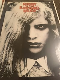 night of the living dead poster NEW in plastic with cardboard 34 x 23