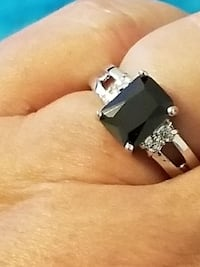 925 Silver CZ and Onyx Ring Size 7, 9 Fort Worth, 76116