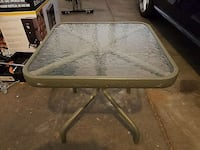 Small glass top patio end table Denver, 80226