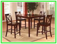 5 Piece Counter Height Dining Set in Box Windsor Mill