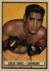 1951 Topps Ringside Boxing Card Carlos Chaves