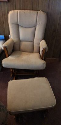 beige padded glider chair with ottoman Leesburg, 20175