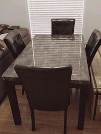 Dining set (granite top) w/4 chairs