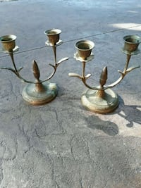 Brass candle holders Village, 73120