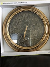 round brown and gray wooden wall clock Toronto, M3C